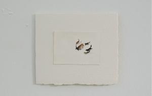Buzzard Meat - watercolor, 12.5 x 9cm, SOLD