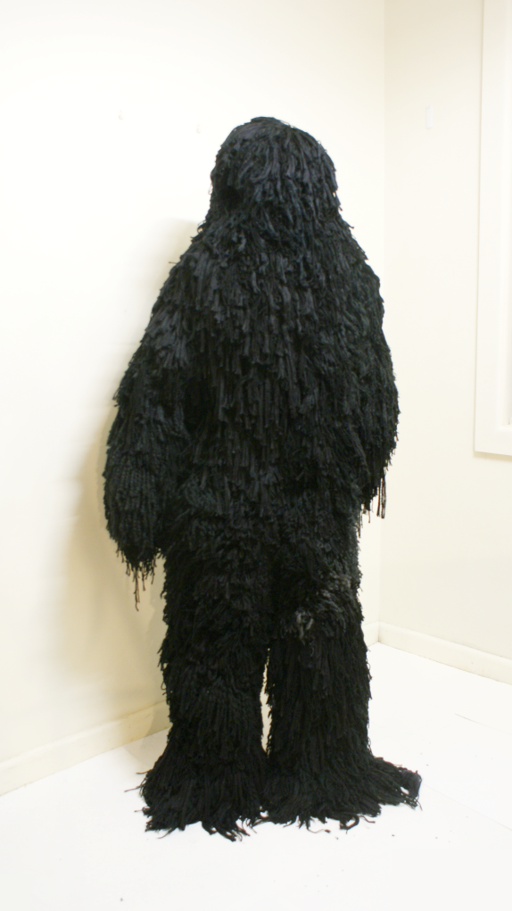 wool, acrylic, nylon B.D.U (battle dress uniform) installation/performance