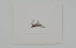 Pretence - watercolor, 12.5 x 9cm, SOLD