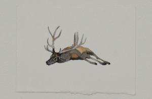 Pretence (detail) - watercolor, 12.5 x 9cm, SOLD