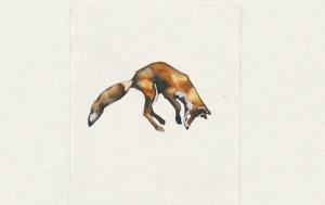 Keres (detail) - watrcolor and gouache, 12 x 9cm, SOLD