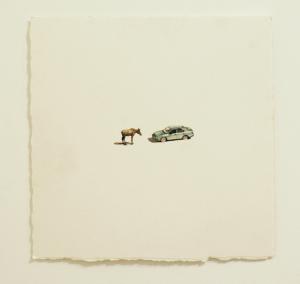 Tiananmen Square - watercolor, 57 x 57cm, SOLD