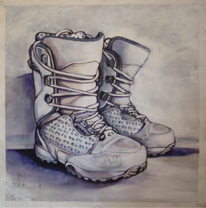 Terry (The Boots). Watercolor & Acrylic.