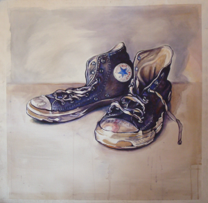 Turbo (The Shoes). Watercolor & Acrylic. SOLD.